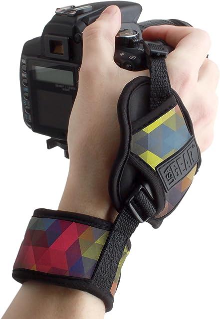 USA Gear Empuñadura de Muñeca Correa de Mano para Cámara de Fotos Réflex Compatible con CanonNikonSonyPentax y Muchas más. Diseño Prisma