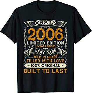 October 2006 Shirt 13 Years Old 13th Birthday Gifts T-Shirt