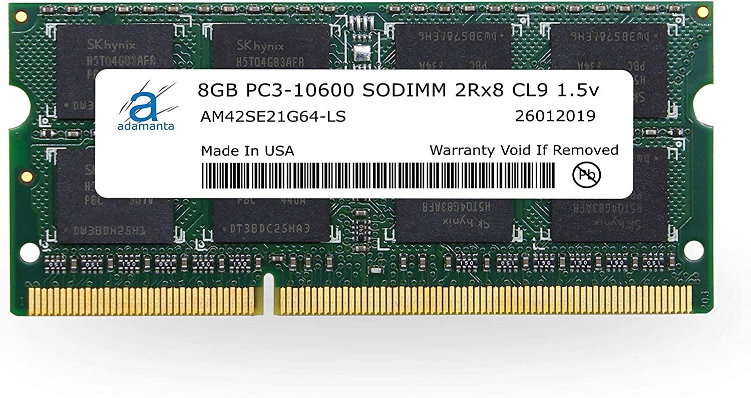 Adamanta 8GB Max 75% OFF 1x8GB Laptop Memory Upgrade 1333Mhz PC3-1060 DDR3 Manufacturer regenerated product