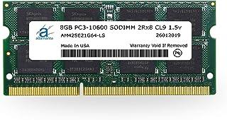 ذاكرة لابتوب Adamanta 8GB (1x8GB) DDR3 1333Mhz PC3-10600 SODIMM 2Rx8 CL9 1.5v Notebook RAM