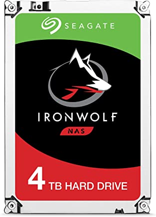 Seagate IronWolf NAS 5900RPM Internal SATA Hard Drive 4TB 6Gb/s 3.5-Inch(ST4000VN008)