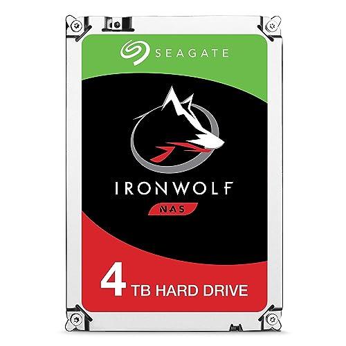 Seagate IronWolf 4 TB, ST4000VN008, disque dur interne, 8,9 cm (3,5 Zoll), 64 MB Cache, 5900 RPM, SATA 6Gb/s