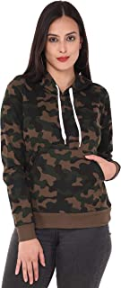 JUNEBERRY 100% Cotton Hooded Camouflage Sweatshirt for Women/Girls