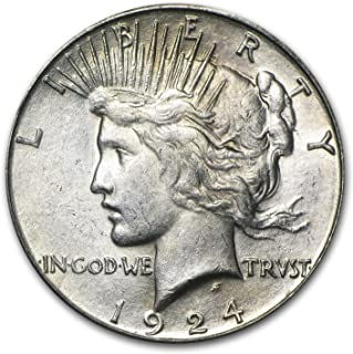 1924 S Peace Dollar AU $1 About Uncirculated