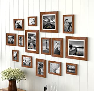 Art street Sumptuous Memories Individual Fiber Wood Photo Frame (Brown, Set of 15)
