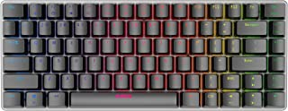 Ajazz AK33 Geek RGB Mechanical Keyboard, 82 Keys Layout, Blue Switches, LED Backlit, Aluminum Portable Wired Gaming Keyboard, Pluggable Cable, for Games Work and Daily Use, Black