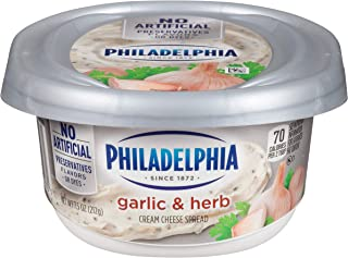 Philadelphia Garlic & Herb Cream Cheese Spread (7.5 oz Tub)