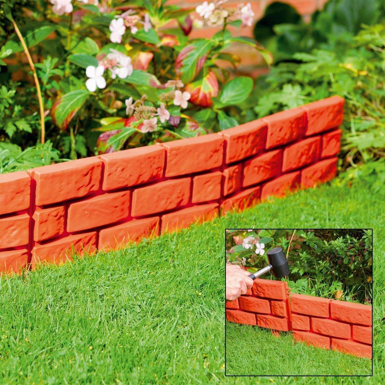 16 x Terracota Instantáneo Efecto Ladrillo Hammer En El Jardín Recortador Bordes Planta Borde: Amazon.es: Jardín