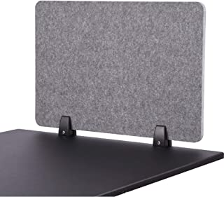 ReFocus Raw Clamp-On Acoustic Desk Divider – Reduce Noise and Visual Distractions with This Lightweight Desk Mounted Privacy Panel (Castle Gray, 24