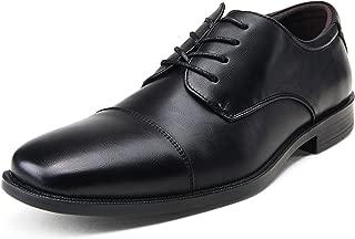 Men's Oxford Cap Toe Formal Lace up Dress Shoes
