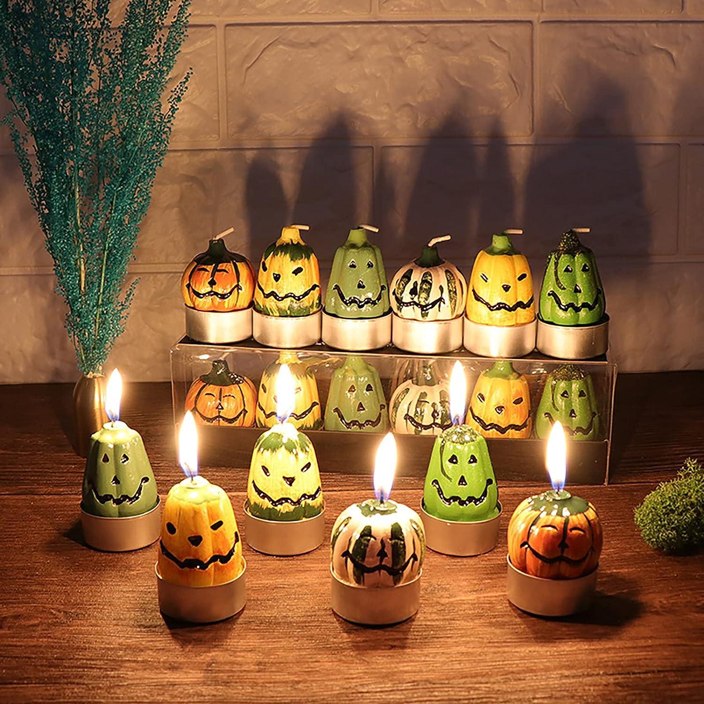 Yuehuam 6pcs Halloween Pumpkin Tealight Candles Tea Direct sale of manufacturer Pumpki Fees free Light