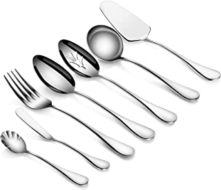 Artaste 56433 Rain 18/10 Stainless Steel 7-Piece Hostess Set, Silver