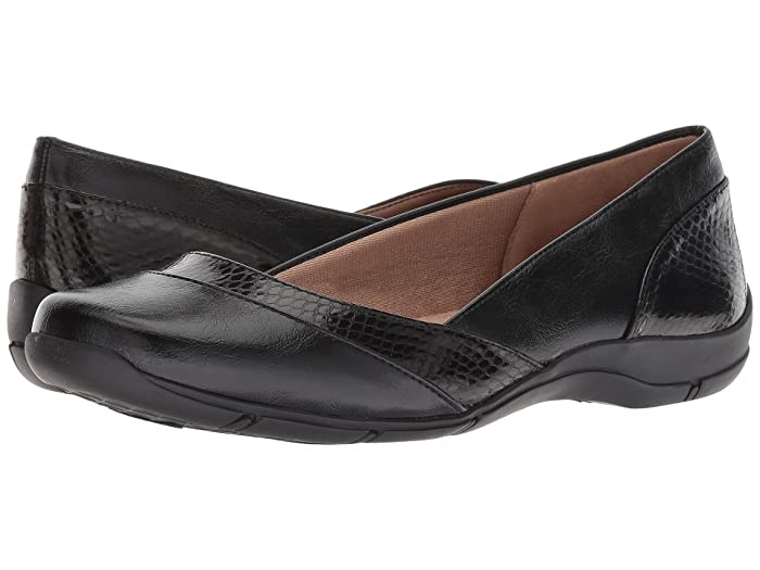 LifeStride  Deja Vu (Black) Womens Flat Shoes
