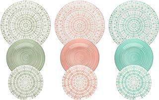 comprar comparacion Tognana ME070185598 Gipsy Soft - Servicio de mesa de Porcelana, 18 Piezas