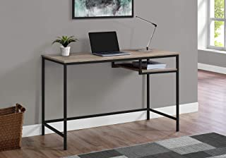 Monarch Specialties Contemporary Laptop Table with Shelf Home & Office Computer Desk-Metal Legs, 48