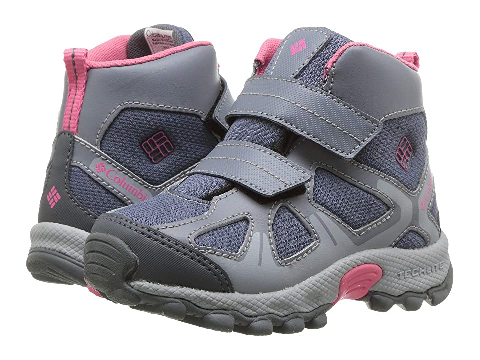 Columbia Kids PeakFreaktm Xcrsn Mid Waterproof (Toddler/Little Kid) (Mountain/Camellia Rose) Girls Shoes