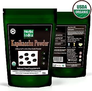 Organic Mucuna Pruriens Powder 16 Ounces (1 Pound) - USDA Certified Organic, Premium Powder - HerbsIndia