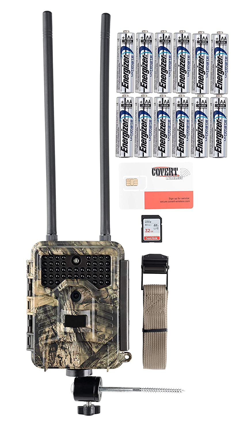 Covert E1 4G LTE Wireless Trail Camera with Batterries, Memory Card, and Mount (AT&T)
