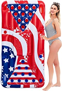 JOYIN Summer Games Inflatable Float 6x3 Ft for Summer Party Pool Float, Cooler, Pool Party Lounge Raft, Cooler Party Fun Games for Adults
