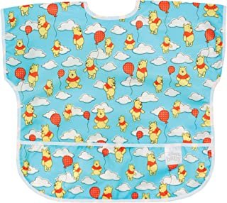 Bumkins Disney Winnie The Pooh Junior Bib/Short Sleeve Toddler Bib/Smock 1-3 Years, Waterproof, Washable, Stain and Odor R...