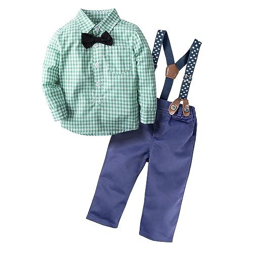 f64307e5f4c BIG ELEPHANT Baby Boys  2 Pieces Gentle Pants Clothing Set with Bowtie