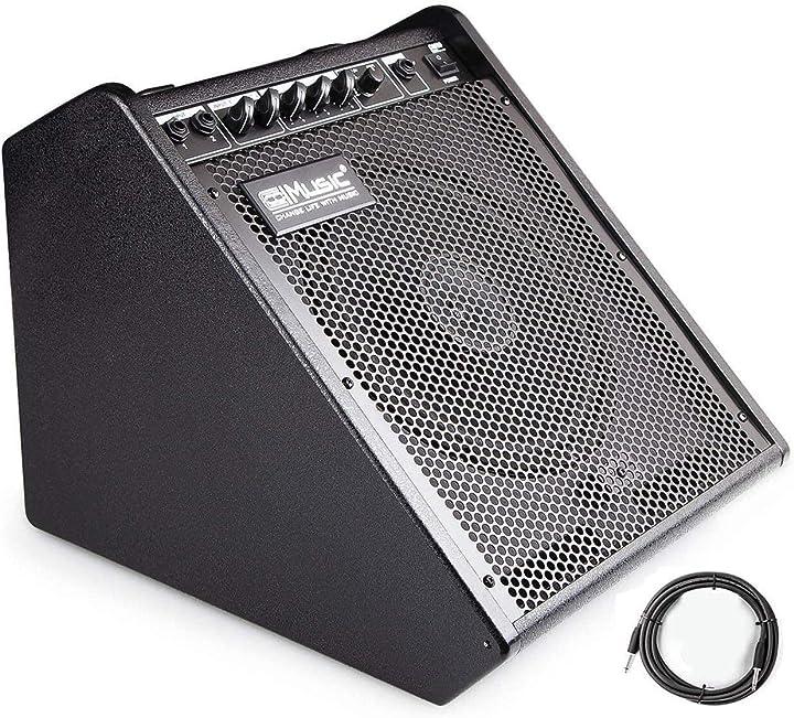 Amplificatore per monitor personale per batteria elettronica tastiera e per chitarra acustica coolmusic dm100 B081MXSGJJ