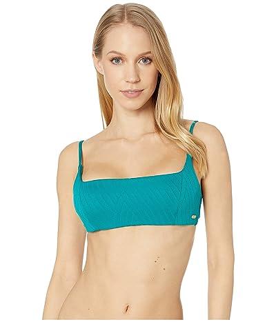 Roxy Tidal Times Bralette Swim Top (Everglade) Women