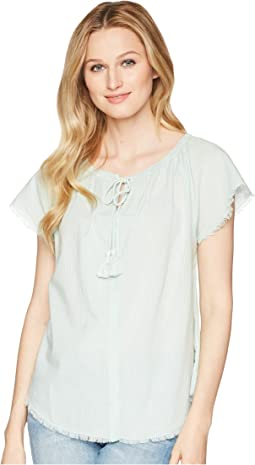 Short Sleeve Split-Neck