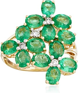 Best emerald and diamond flower ring Reviews