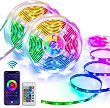 Homeyard Led Strip Lights 32.8FT LED Light for Bedroom WiFi RGB Light Strips Work with Alexa 谷歌 Assistant Remote APP C...