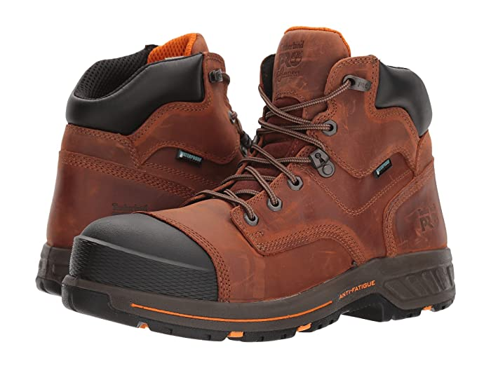 Timberland PRO  Helix HD 6 Soft Toe Waterproof (Distressed Red Brown) Mens Work Lace-up Boots