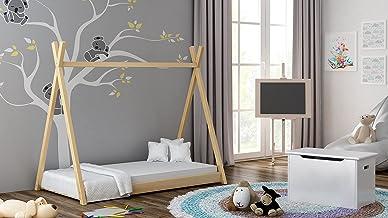 Children's Beds Home - Enkelsängssäng - Titus Tepee stil för barn barn småbarn junior - storlek 190 x 90, färg naturlig, m...