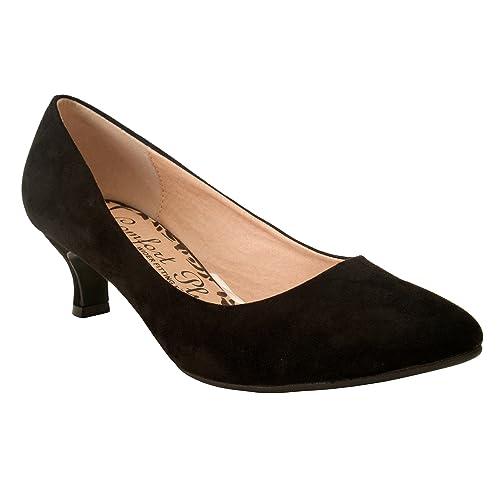 fcd0a984dd3 Comfort Plus Ladies Womens Wide Fit Memory Foam Patent Formal Slip On  Kitten Heel Party Office