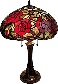 Amora Lighting Tiffany Style Table Lamp Banker 24