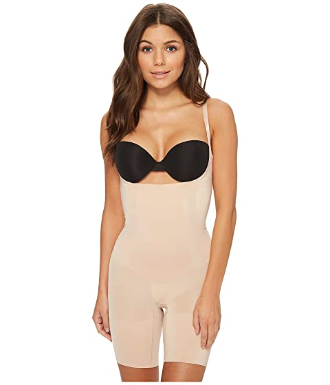 a35945bced Spanx OnCore Open-Bust Mid-Thigh Bodysuit at Zappos.com