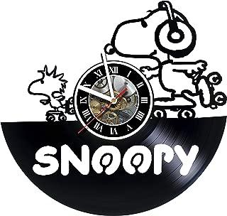 artVoloshka Snoopy Happy Dance - Wall Clock Made of Vinyl Record - Handmade Art Design - Great Gifts idea for Birthday, Wedding, Anniversary, Women, Men, Friends, Girlfriend Boyfriend and Teens