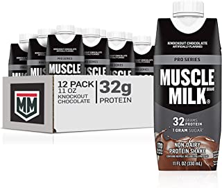 Muscle Milk Pro Series Protein Shake, Knockout Chocolate, 32g Protein, 11 Fl Oz (Pack of 12)