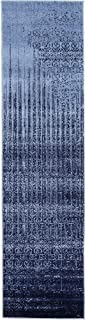Unique Loom Del Mar Collection Contemporary Transitional Blue Runner Rug (2' 7 x 10' 0)