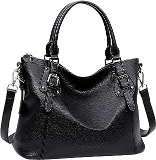 Heshe Faux PU Leather Women Handbags Tote Top Handle Bag Shoulder Bag for Woman Crossbody Bags Ladies Designer Purse