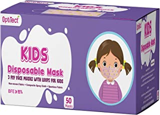50 PCS Kids Baby Boys Girls Masks Disposable 3 Layers Children Mask Dust proof Breathable Face Protection with Meltblown C...