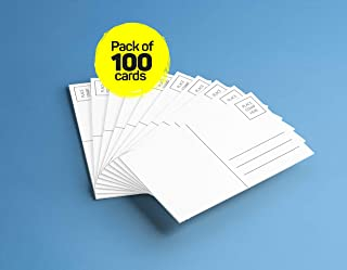 4x6 Blank Mailable Postcards - 14PT Heavy Duty, Blank Postcards for Art or Printing with Mailing Side for Mailing. (100 Pack)