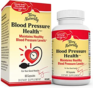 Terry Naturally Blood Pressure Health - 60 Vegan Capsules - Promotes Healthy Circulation & Blood Pressure Levels, Supports...