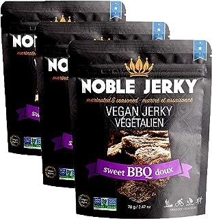 Noble Jerky - Sweet BBQ - Vegan Jerky - Plant Based - Non-GMO - 3 x 70 grams