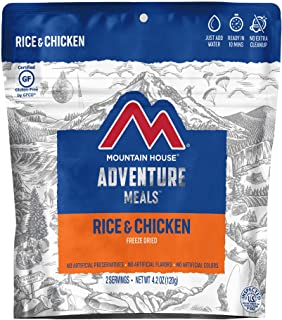 Mountain House Rice & Chicken   Freeze Dried Backpacking & Camping Food   Survival & Emergency Food   Gluten-Free