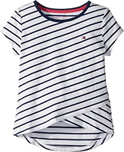 Tommy Hilfiger Kids - Stripe Crossover Tee (Big Kids)