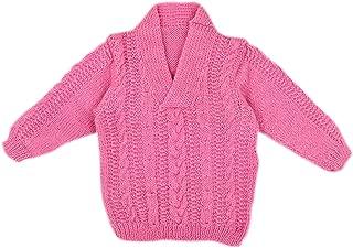 Handmade Knit Baby Girls Infant Newborn Winter Woolen Full Sleeves Sleeveless Sweater Pullover Cardigan