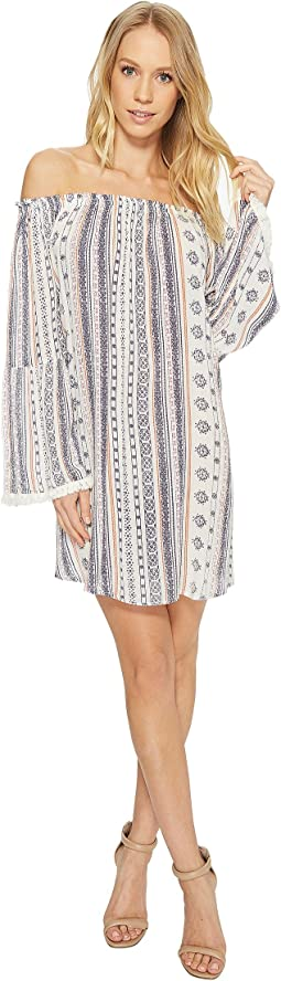 American Rose - Natalie Off the Shoulder Dress with Tassel Detail