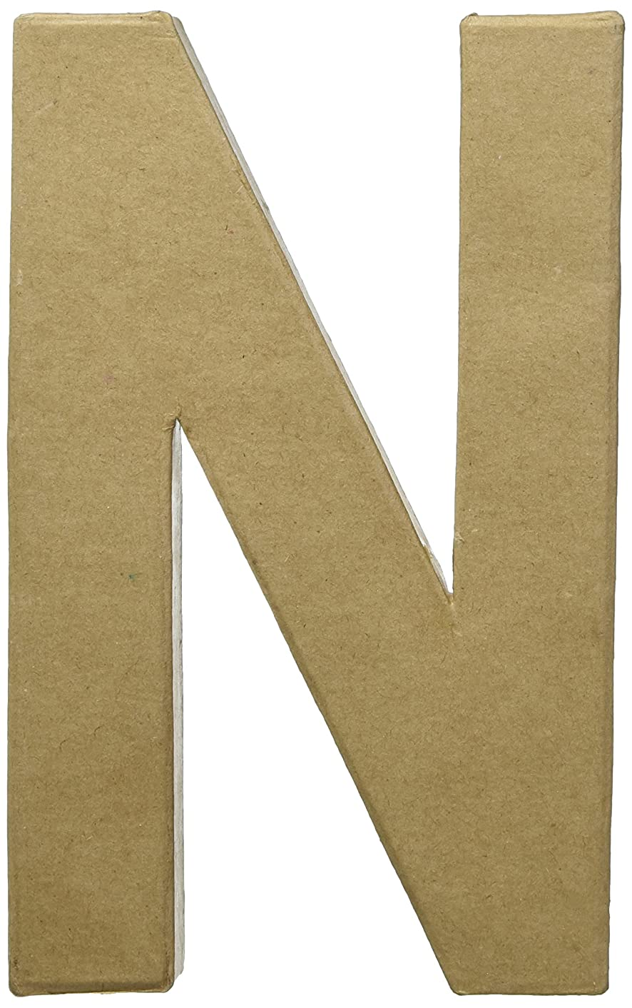 Craft Ped Paper CPL1006251-N.K Mache Letter N Kraft, 8