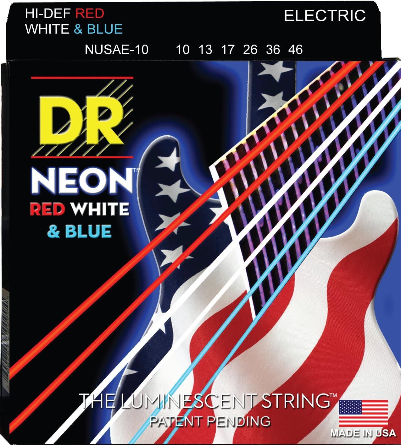 DR Strings HI-DEF NEON OFFicial store Guitar Electric Medium Finally resale start NUSAE-10