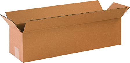 """Partners Brand P2466 Long Corrugated Boxes, 24""""L x 6""""W x 6""""H, Kraft (Pack of 25)"""